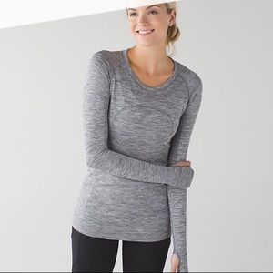 Lululemon gray size 2 swiftly tech long sleeve